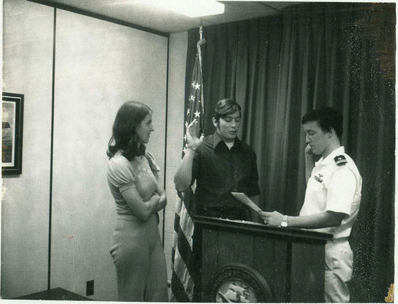 Rex Swearing into the Navy
