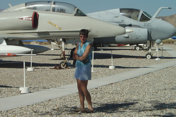Joyce at Naval Weapons Center, China Lake, California