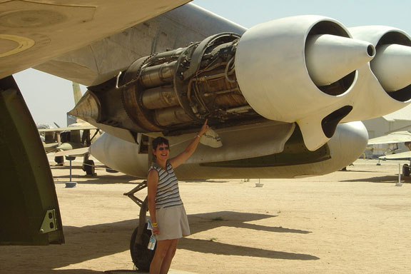 Joyce at the March AFB Museum