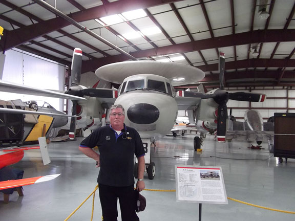 Rex and an E-2C Hawkeye