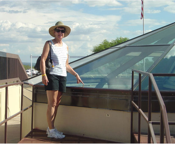 Joyce at Titan Museum in Tucson