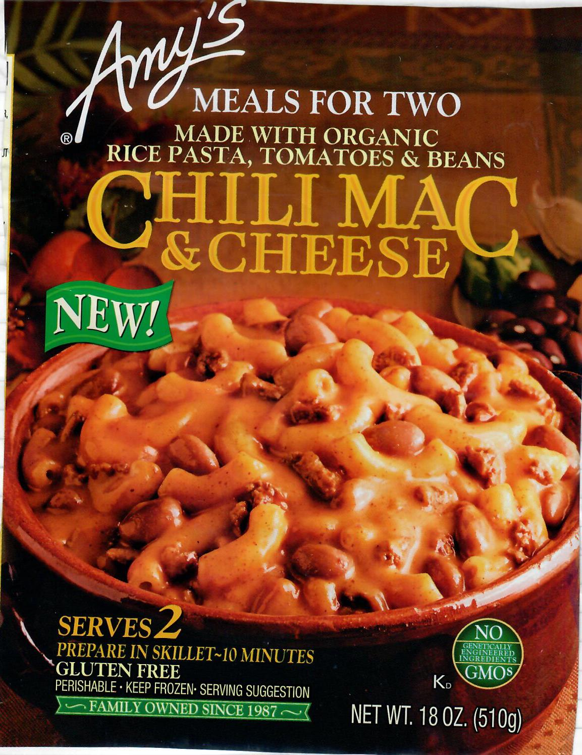 Amy's Chili Mac & Cheese for Two
