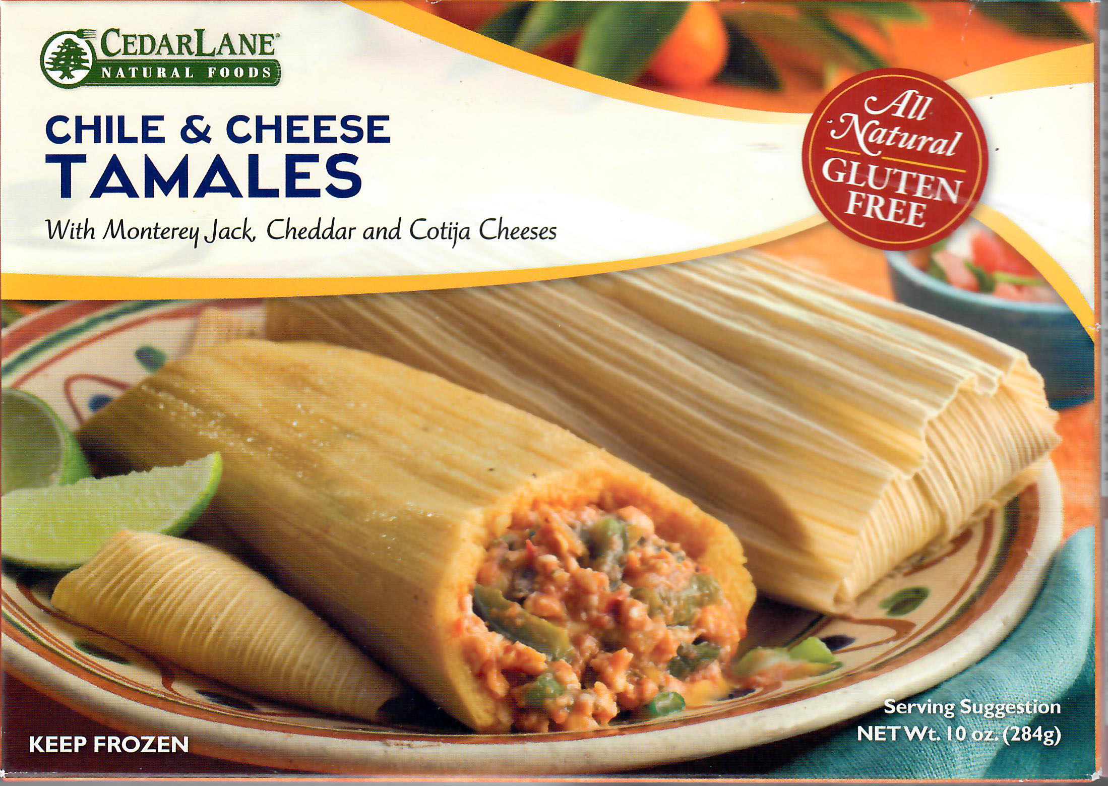 Cedarlane Chile and Cheese Tamales