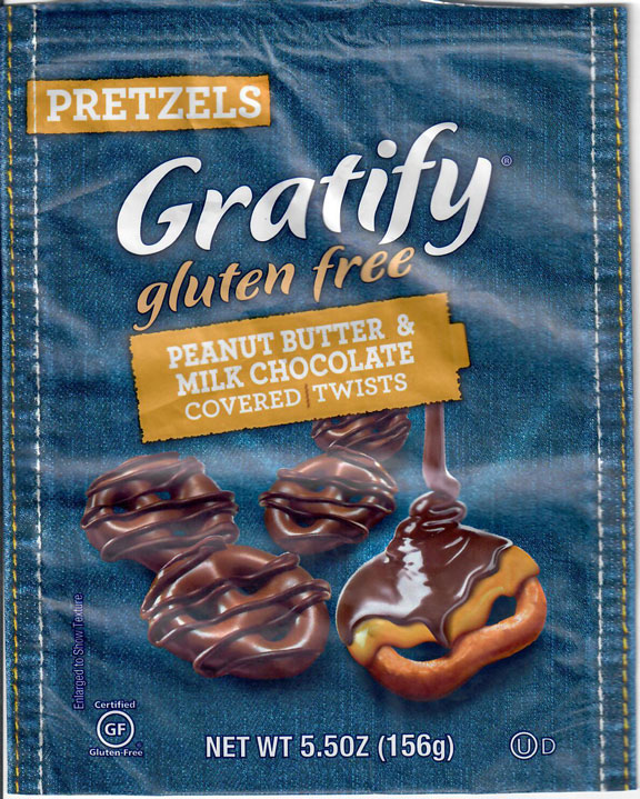 Gratify Peanut Butter & Milk Chocolate Covered Twists