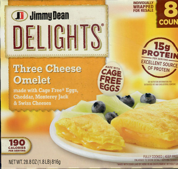 Jimmy Dean Delights Three Cheese Omelet
