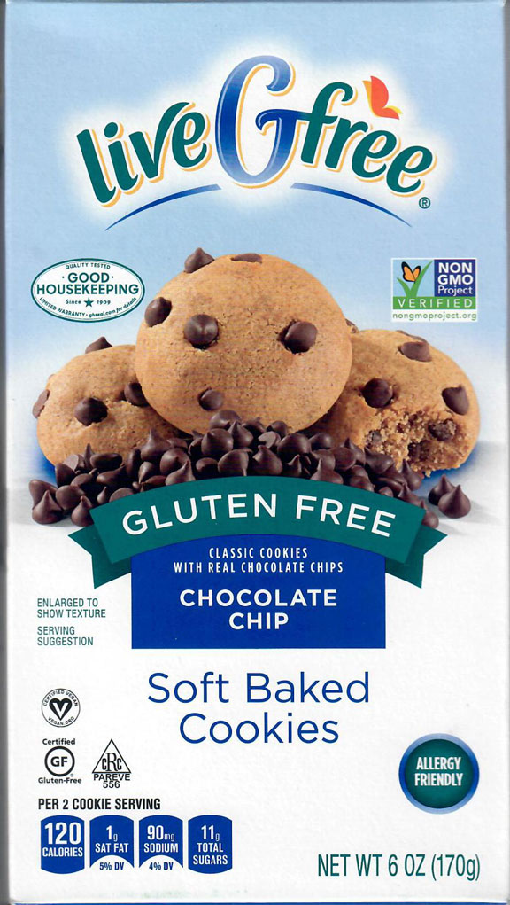Live G Free Soft Chocolate Chip Cookies