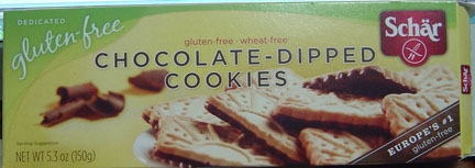 Schar Chocolate-Dipped Cookies