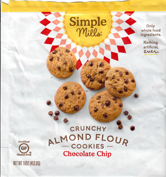 Simple Mills Crunchy Almond Flour Cookies - Chocolate Chip