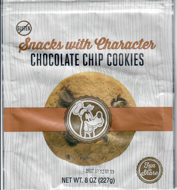 Snacks With Characters Chocolate Chip Cookies