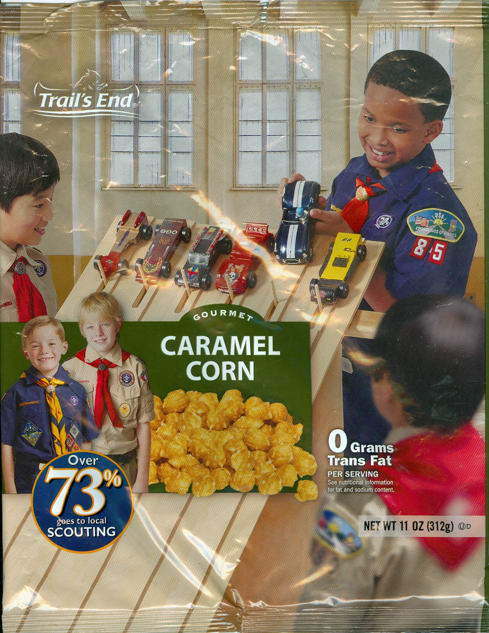 The Trail's End Gourmet Caramel Corn for Scouting