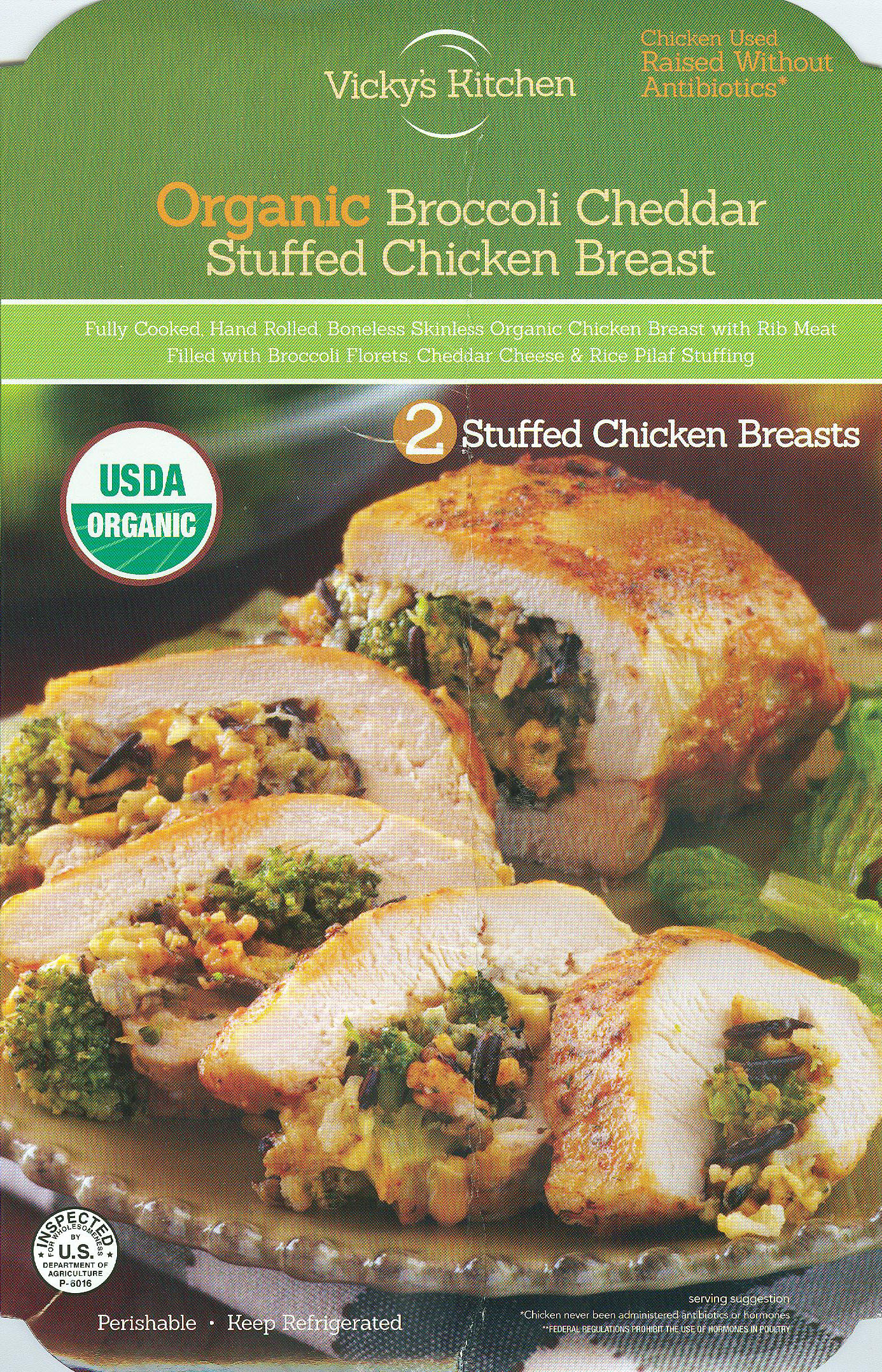 Vicky's Kitchen Broccoli Cheddar Stuffed Chicken Breast