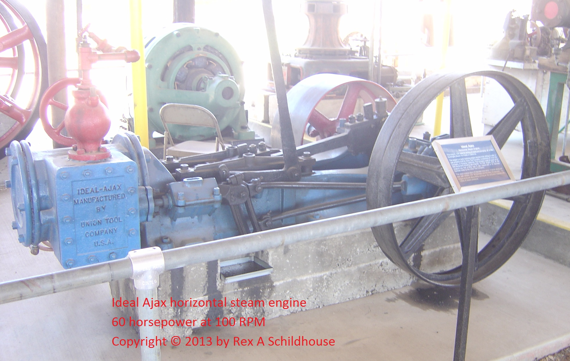 Ideal Ajax Horizontal Steam Engine