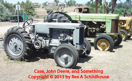 Case and John Deere Tractors