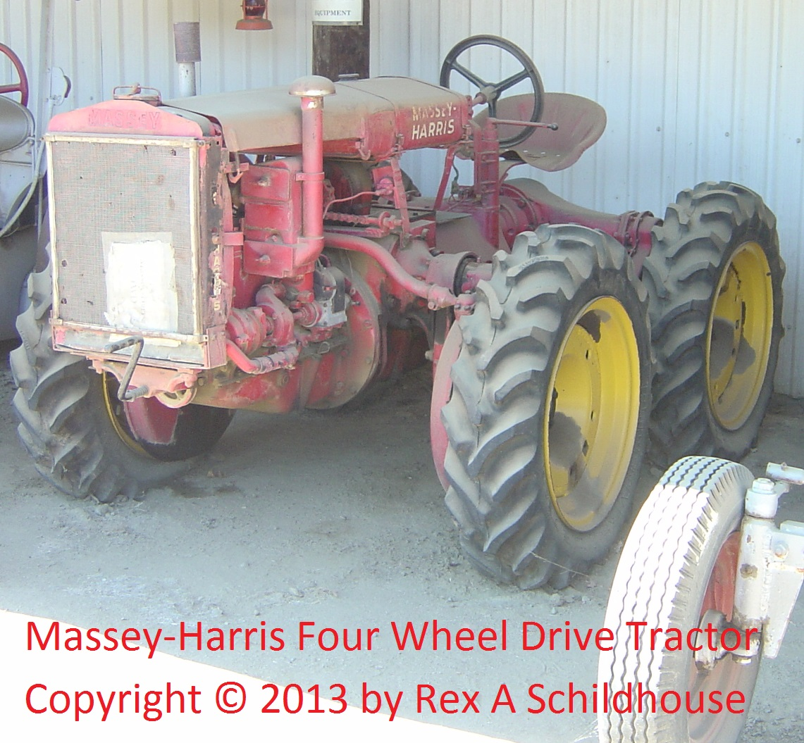 Massey-Harris Four Wheel Drive Tractor