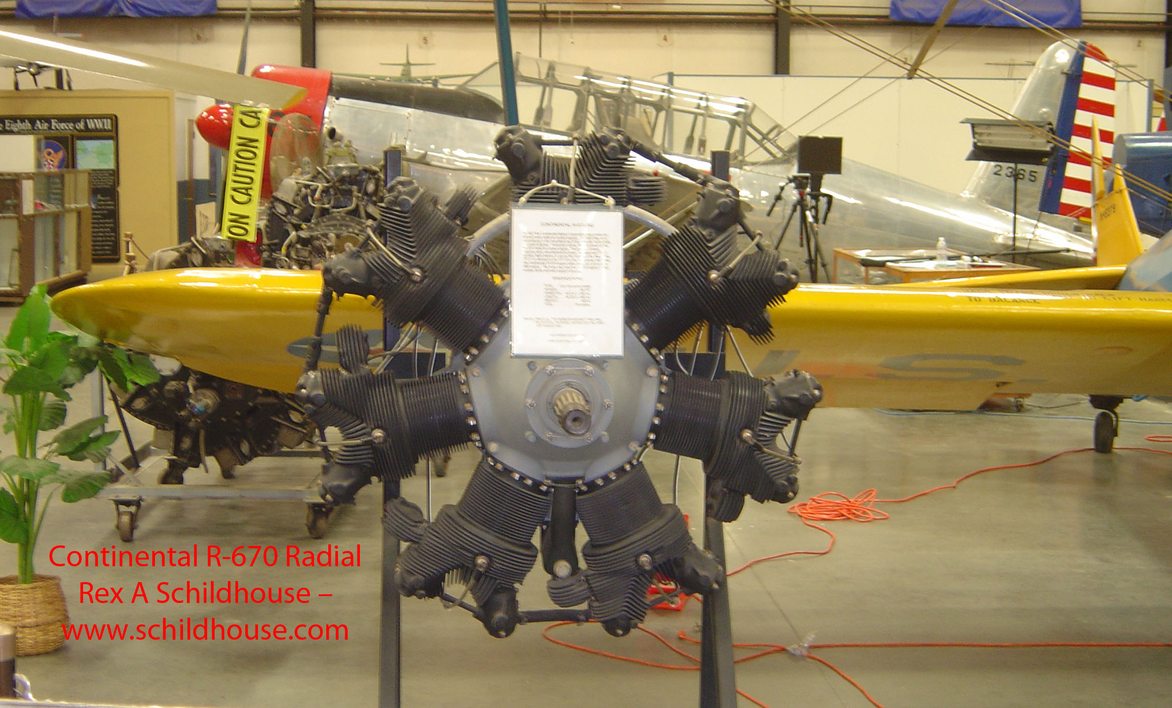 Continental R-670 Radial Engine