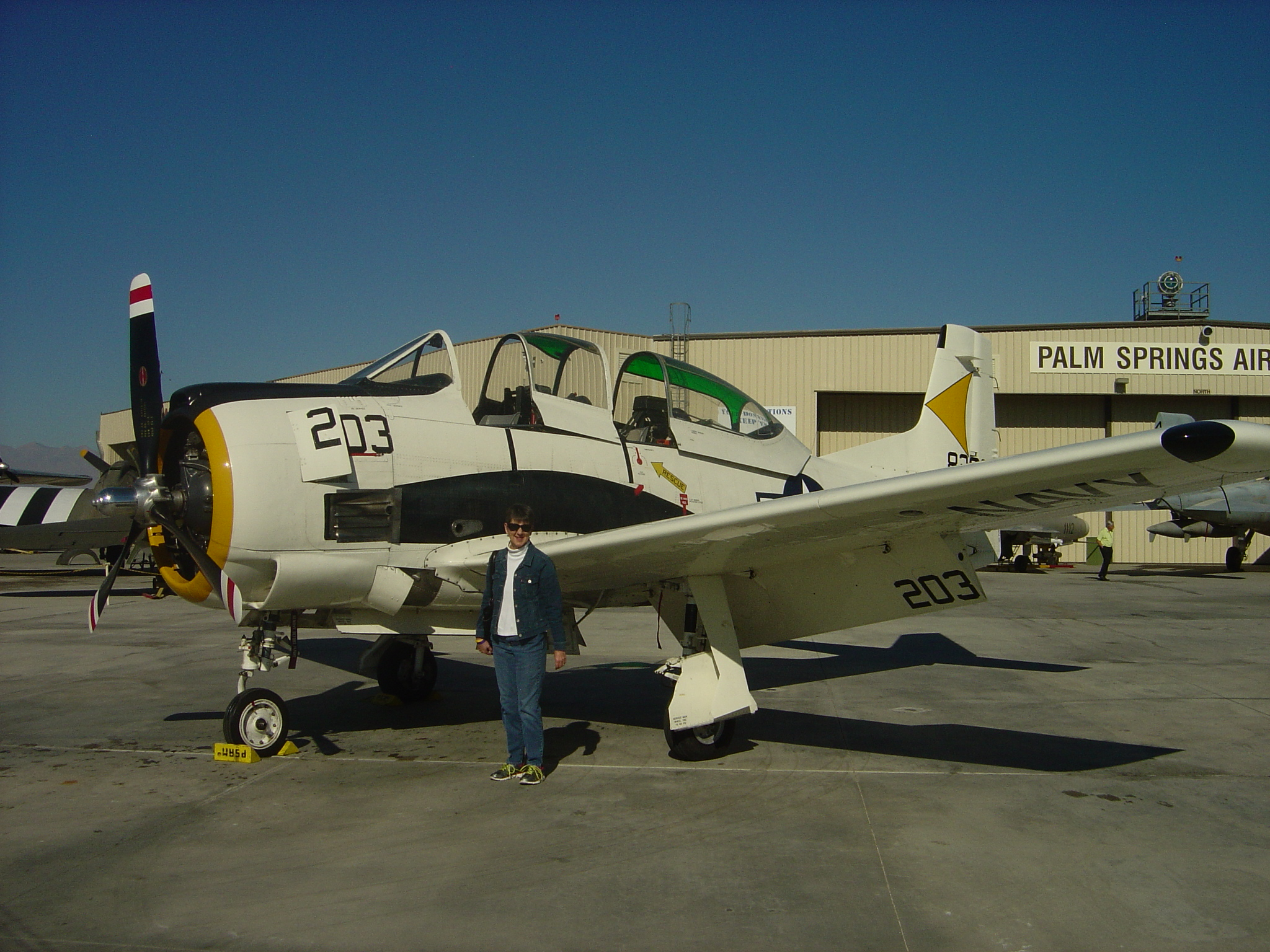 North American T-28B Trojan and Joyce