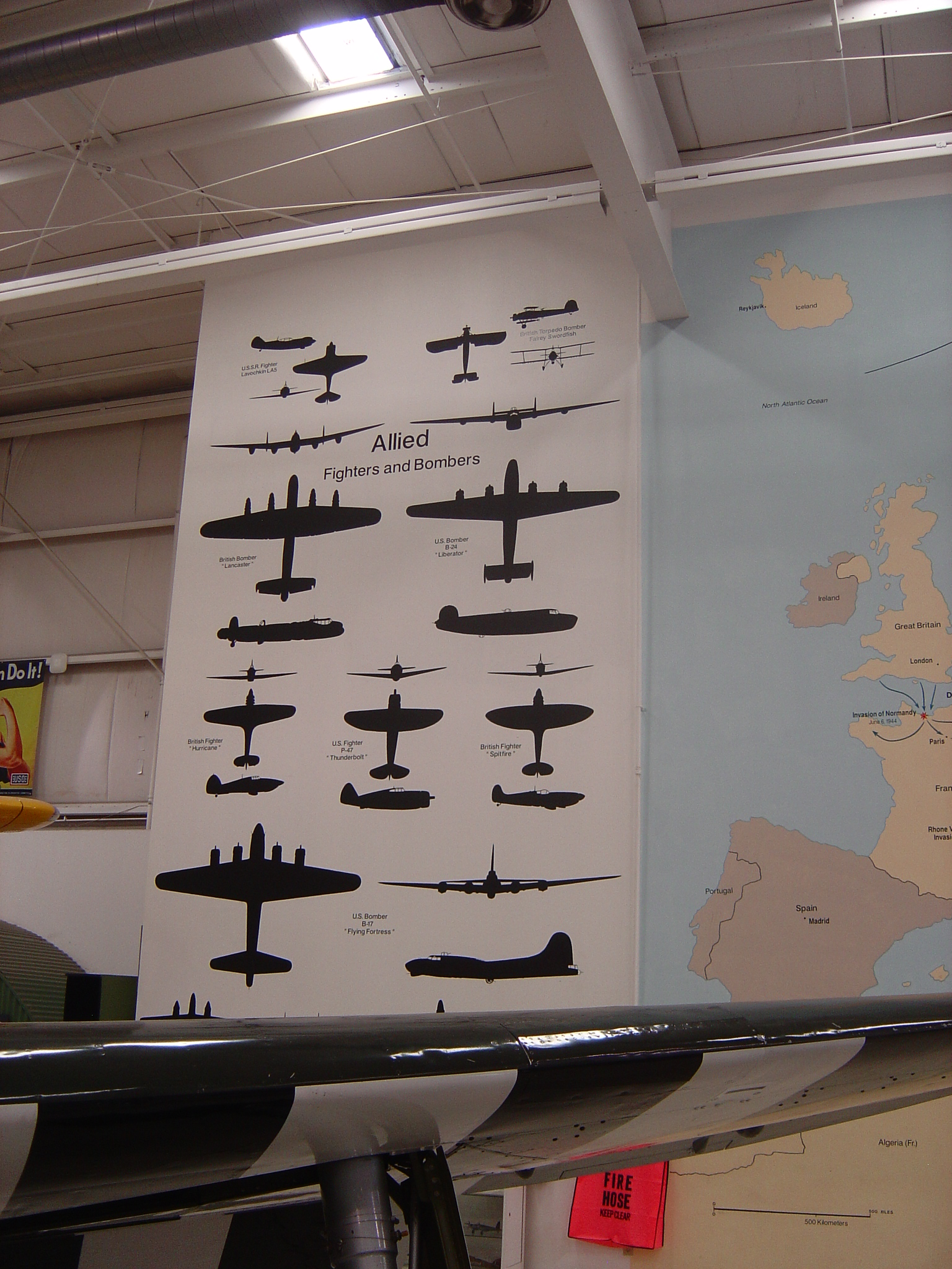 WWII Aircraft Mural