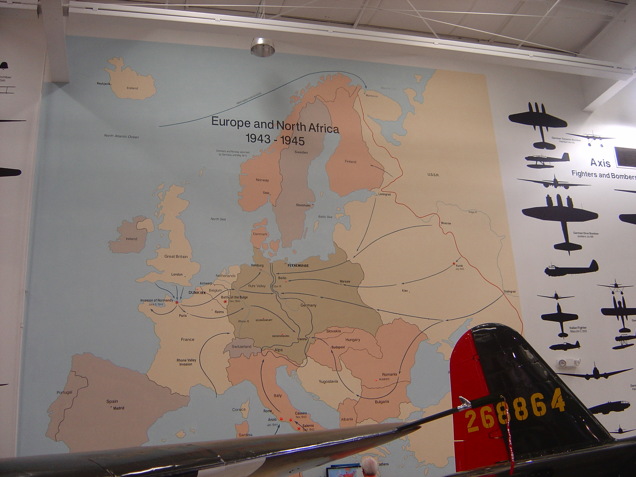 WWII European Theater of Operations Mural