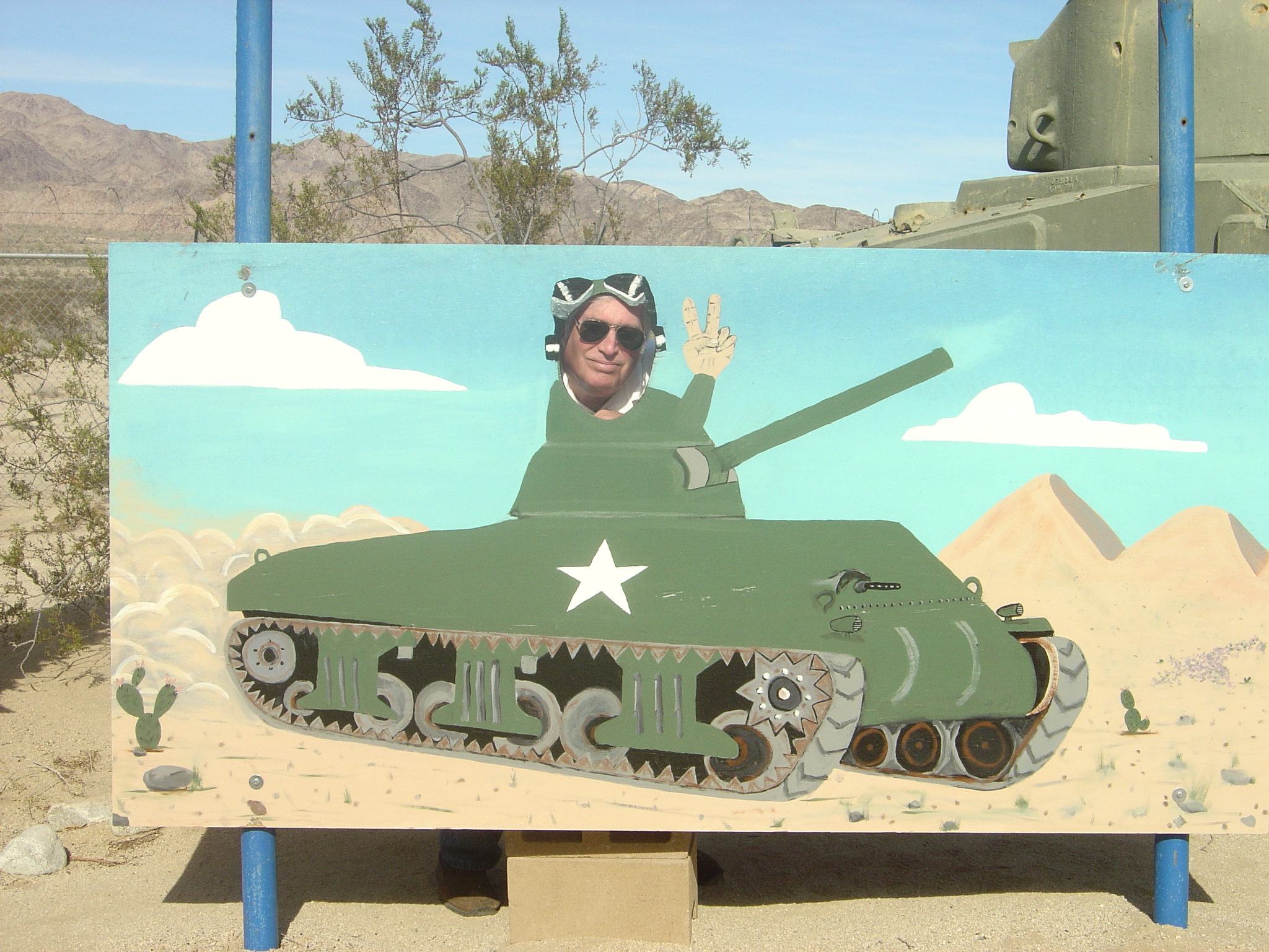 Rex in an M4 Sherman Tank