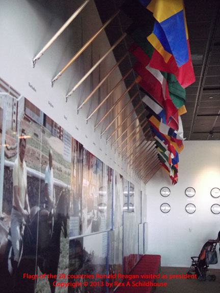 Flags from countries visited as president