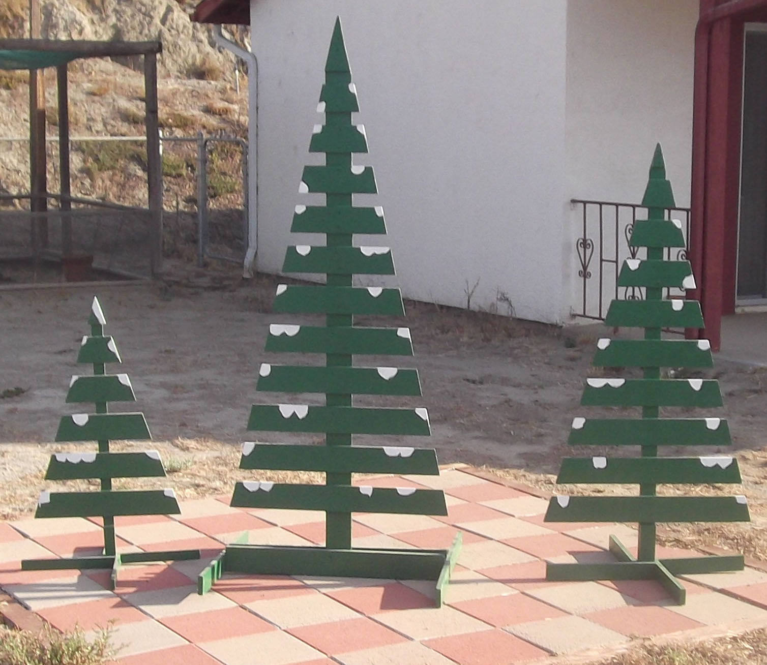 Slat Christmas Trees